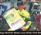 Roger BEUCHAT, meilleur jeune Régio Tour 04