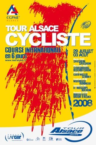 Affiche Tour Alsace 2008