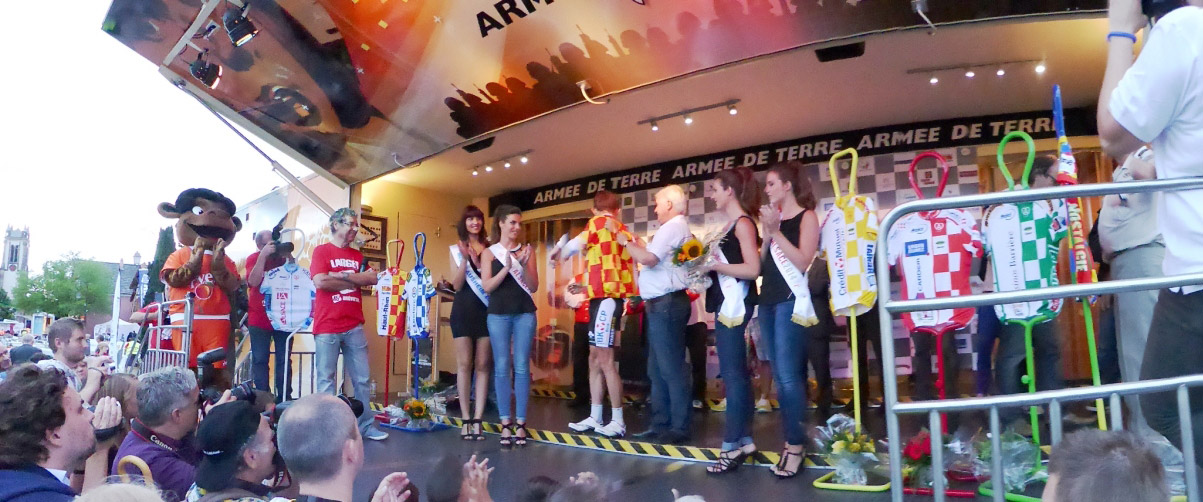 Podium finish sur une étape du Tour Alsace