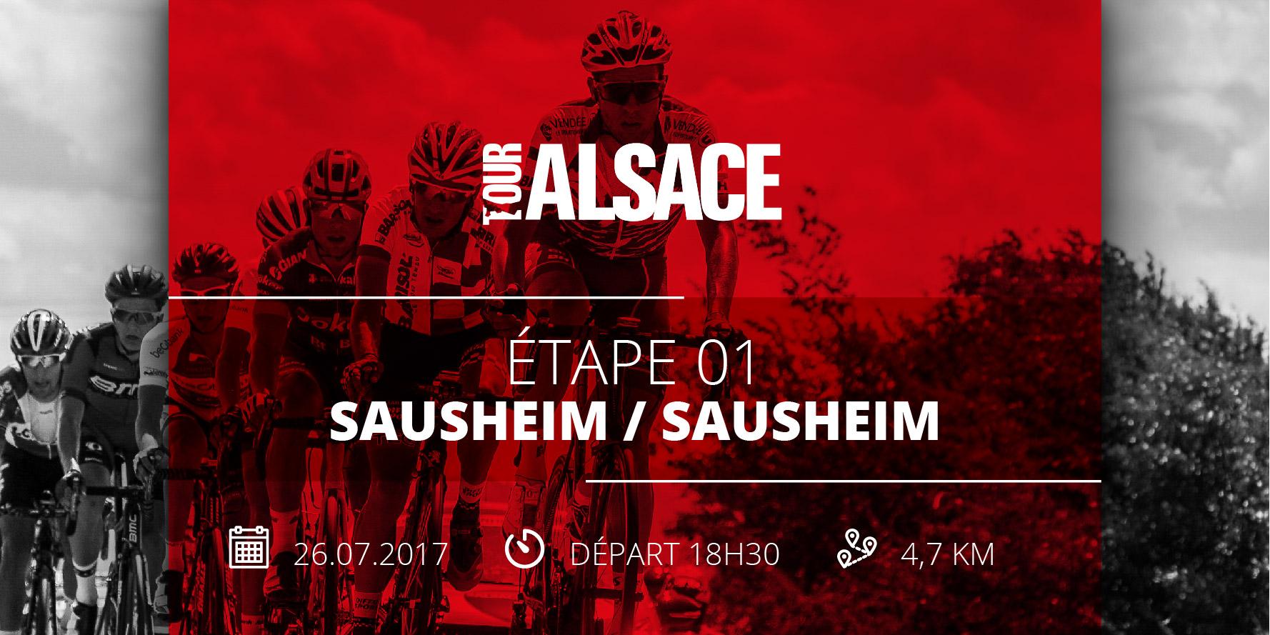 Tour Alsace 2017 étape à sausheim présentation sur circuit mercredi 26 juillet