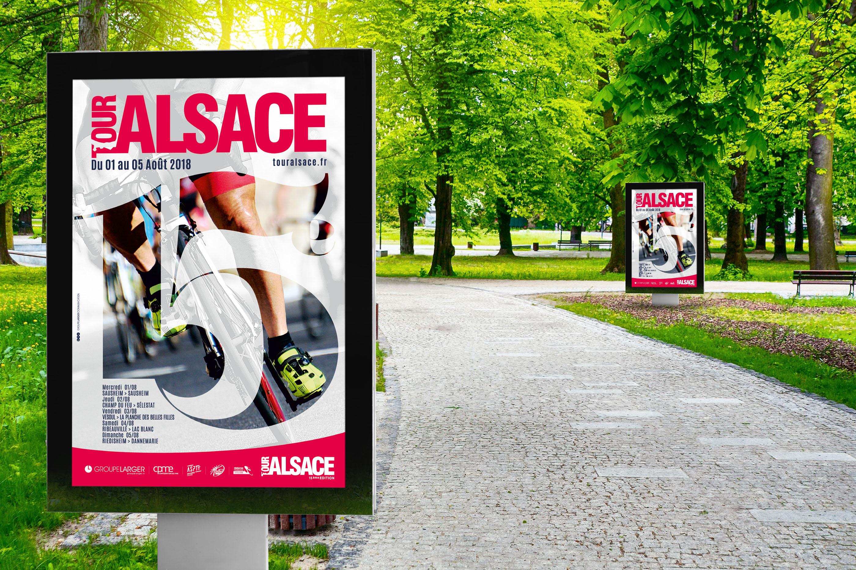 Affiche tour alsace cycliste 2018