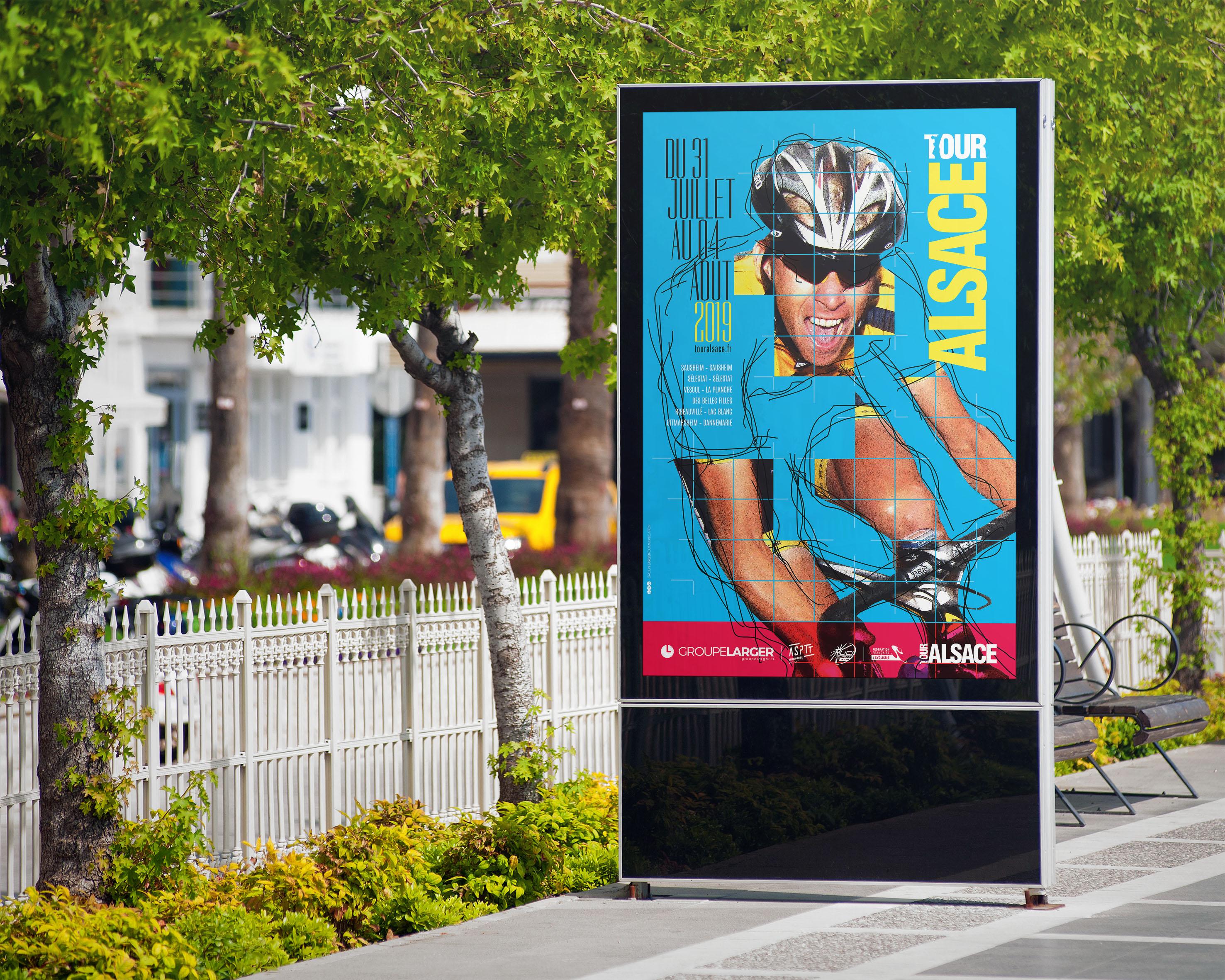 Affiche tour alsace cycliste 2019