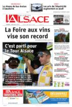 01.08.2019 - Page de couv - C'est parti pour le Tour Alsace