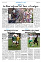 04.08.2019 - DNA - Le final aujourd'hui dans le Sundgau